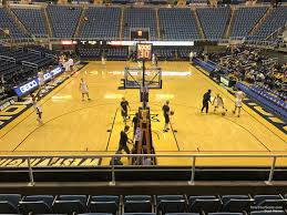 West Virginia Basketball Arena Seating Chart Wvu Coliseum Section 101 Rateyourseats Com