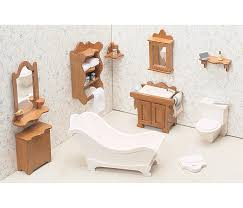 unfinished dollhouse furniture. Greenleaf Dollhouse Furniture Kit: Bathroom Unfinished