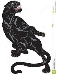 сердитая иллюстрация татуировки черной пантеры иллюстрация вектора