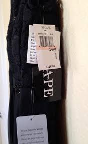 Xscape Size Chart Xscape Black Embellished Chiffon Knit Gown Plus Long Formal Dress Size 14 L 30 Off Retail