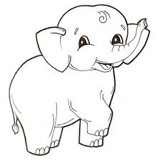 Cute Baby Elephant Coloring Page Free Printable Coloring Pages Adult