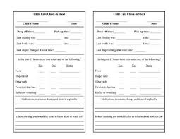 Printable Daycare Forms - April.onthemarch.co