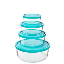 frigoverre glass storage containers with lids set of 4