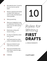 of the best writing tips advice from successful writers buffer 10 rules for writing first drafts