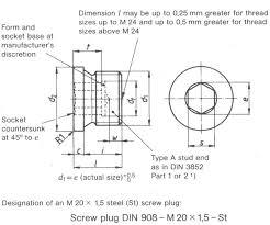 Nut Bolt Size Chart In Mm Pdf Din 908 Pdf Standard Screw Plug Knowledge Yuyao Jiayuan