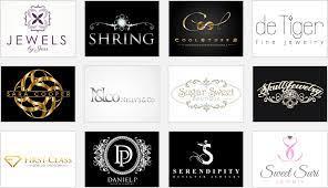 elegant jewelry logos with beauty