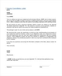 Letter To Discontinue Services 7 Cancellation Letter Templates Pdf Doc Free Premium