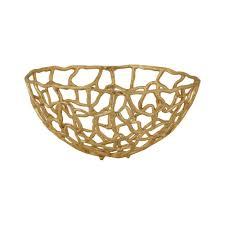 Gold Decorative Bowl Free Form Medium Decorative Bowl In Gold Tn 891891 The Home Depot
