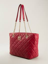 Michael michael kors Fulton Quilted Tote in Red | Lyst & Gallery. Previously sold at: FarFetch · Women's Michael By Michael Kors  Fulton Women's Michael Kors Quilted Bag Adamdwight.com