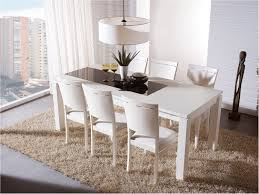 brilliant new white extending dining table and chairs impressive design inside contemporary model white dining room table set