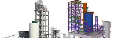 Cement Cyclone Design Cement Plant Preheater Building Tekla