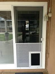 door with pet door new sliding screen door with pet grill and pet door yelp patio door with pet
