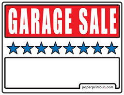 Yard Sale Pricing Chart Free Yard Sale Signs Margarethaydon Com