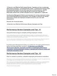 Simple Employee Review Medium To Large Size Of Employee Performance Checklist