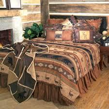 rustic cabin bedding canada sets log