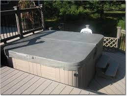 above ground pool with deck and hot tub. Bi-Level Deck Above Ground Pool With Deck And Hot Tub N