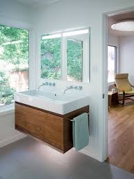 vanity strip lighting. Baroque Fresca Vanity In Bathroom Contemporary With Wood Baseboard Next To Led Strip Lights Alongside Two-faucet Trough Sink And Floating Lighting