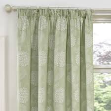 hydrangea soft green luxury jacquard lined pencil pleat curtains office fit out companies small