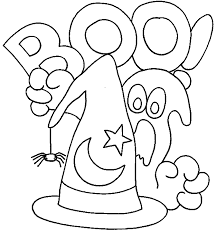 Small Picture Halloween Coloring Page Kindergarten Kindergarten Halloween