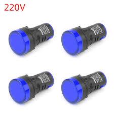 220v Pilot Light Mad Hornets 4pcs Led Indicator Pilot Light Signal Lamp Panel 220v 22mm Ip65 Ad16 22 Blue