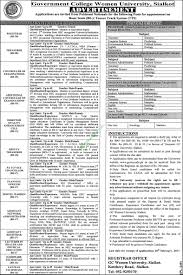 government college women university sialkot jobs application form government college women university sialkot jobs application form 2017