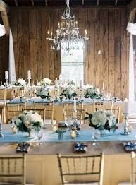 Blue And Gold Table Setting Blue And Gold Barn Wedding Runners Receptions And The Rustic