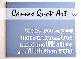 Canvas Quote Art