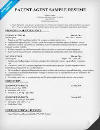 Patent Agent Resume Sample (resumecompanion.com)