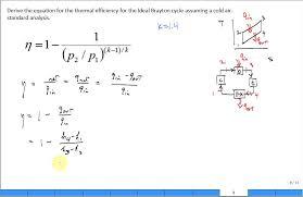 derive brayton cycle thermal efficiency