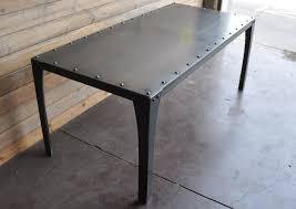 industrial furniture table.  Table Simple Metal Table Intended Industrial Furniture D