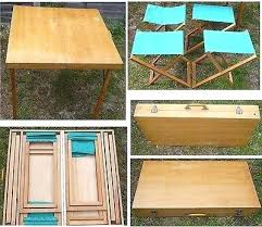 fold out picnic table vintage wood fold up picnic table with 4 chairs packs picnic folding fold out picnic table
