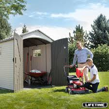 lifetime 7ft x 9ft 5 2 1 x 2 8m outdoor storage shed with windows
