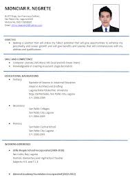 Resume Simple Format Simple Resume Examples Formats Goalgoodwinmetalsco