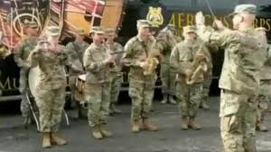 us army us army band plays jana gana mana for indian soldiers during