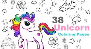 Jumping cute unicorn for printed design and coloring book pages for anti stress.vector illustration. Adorable Cute Unicorn Coloring Pages Coloring And Drawing