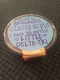 tri delta big little reveal brownies gift more