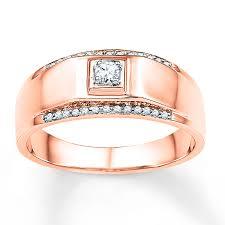 Kay Men S Wedding Band 1 6 Ct Tw Diamonds 10k Rose Gold