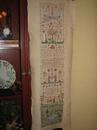And They Sinned Cross Stitch Chart My Finished And They Sinned Sampler Its 4 Feet Long