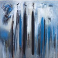 abstract blue painting by brazilian artist ivanilde brunow for