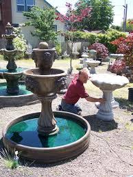 handmade concrete garden fountains