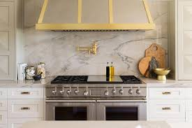 backsplashes for kitchens with quartz countertops implausible steel and gold kitchen hood transitional benjamin interior design