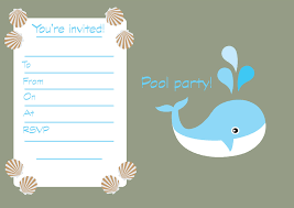 Free Pool Party Invitations Printable Free Printable Childrens Birthday Party Invitations