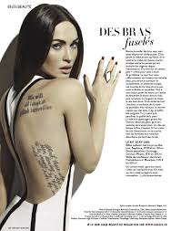 Megan Fox Megan Fox Megan Fox Tattoo Fox Tattoo Tattoos