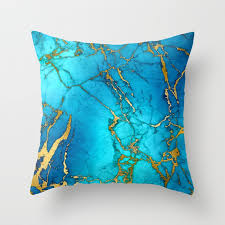 teal and gold pillows. Interesting Pillows Gold And Teal Blue Indigo Malachite Marble Throw Pillow Intended Pillows