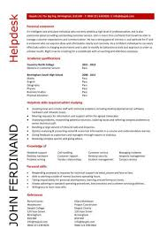 Student Entry Level Helpdesk Resume With Tier 2 Help Desk Resume And Entry  Level Help Desk