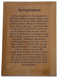 Aa Quotes Simple Acceptance Quote Plaque Recovery Gifts And Slogan Plaques At