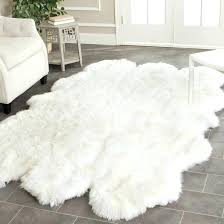 mainstays mongolian faux fur figural rug grey mongolian