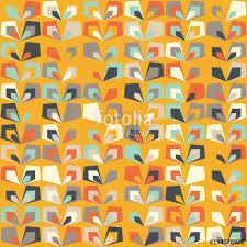 seamless vintage wallpaper pattern orange. Delighful Seamless Midcentury Geometric Retro Background Vintage Brown Orange And Teal  Colors Seamless Floral Mod Throughout Wallpaper Pattern Orange S