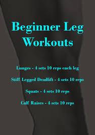 Beginner Complete Leg Workouts Simple Beginner Workout