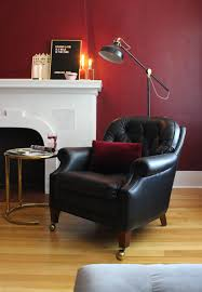 leather chair with fusion mineral paint